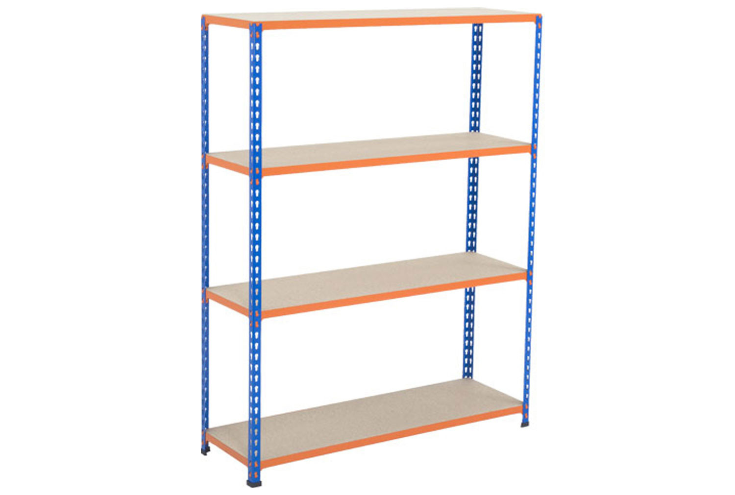 Rapid 2 Shelving With 4 Chipboard Shelves 1525wx1980h (Blue/Orange)