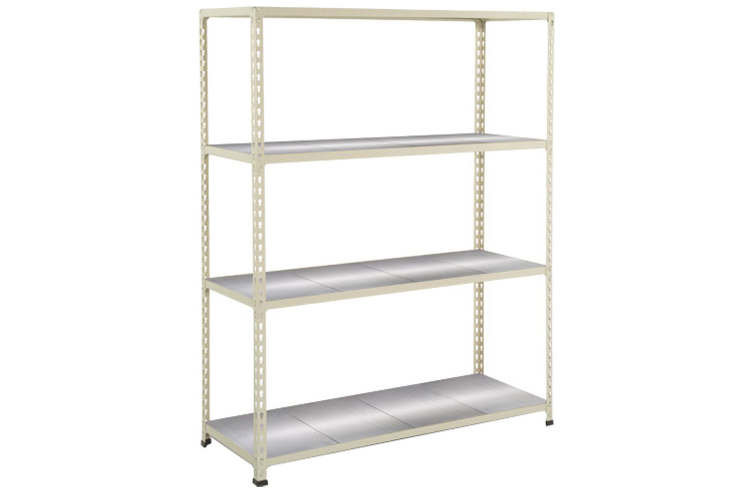Rapid 2 Shelving With 4 Galvanized Shelves 1525wx1980h (Grey)
