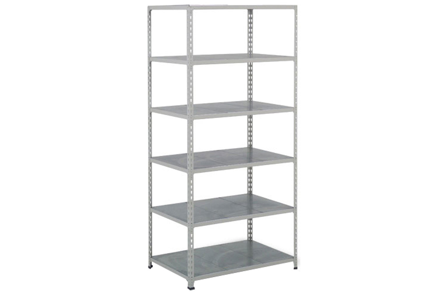 Rapid 2 Shelving With 6 Galvanized Shelves 1220wx2440h (Grey)