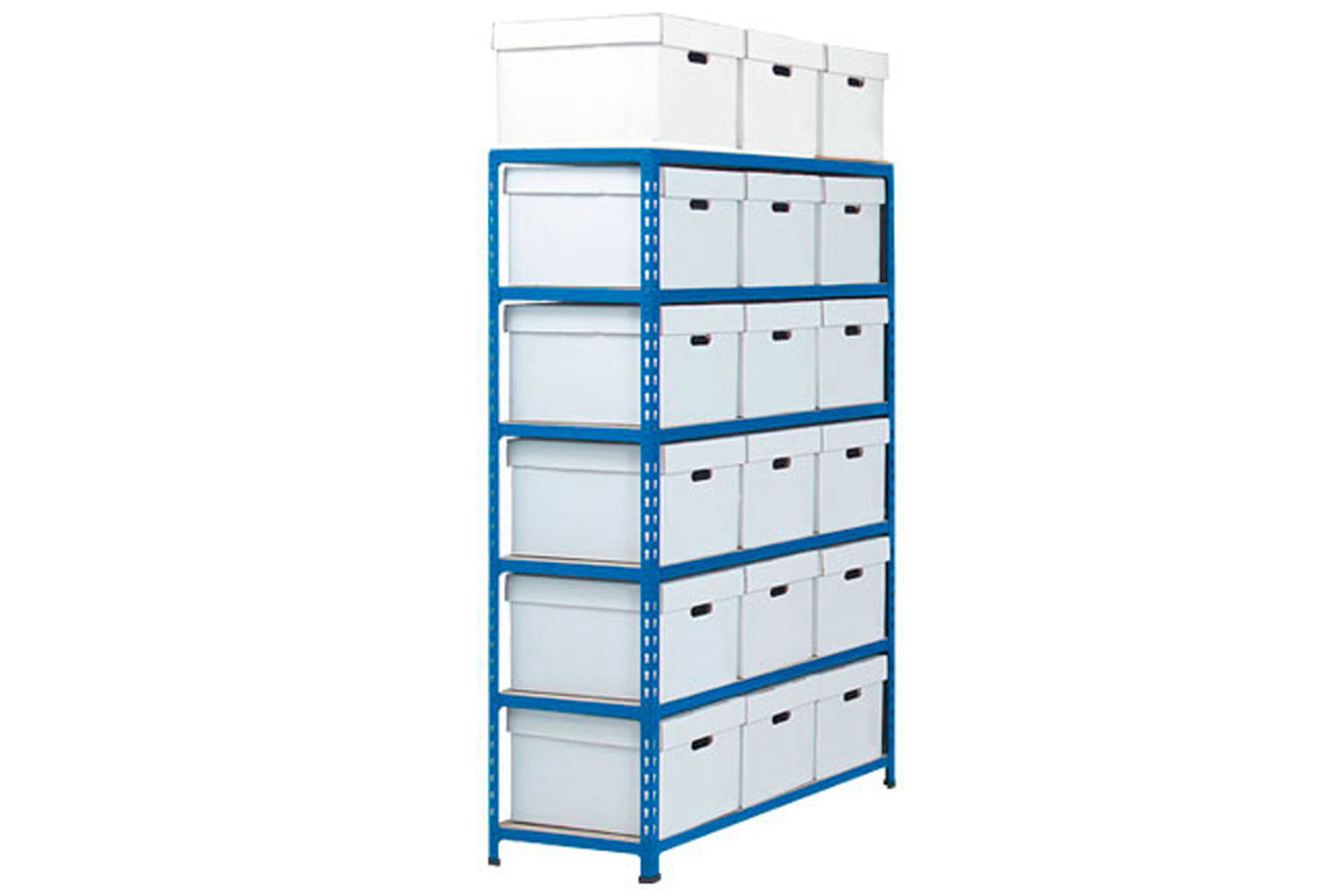 Rapid 2 Storage Bays With 18 White Document Boxes Bundle Deal