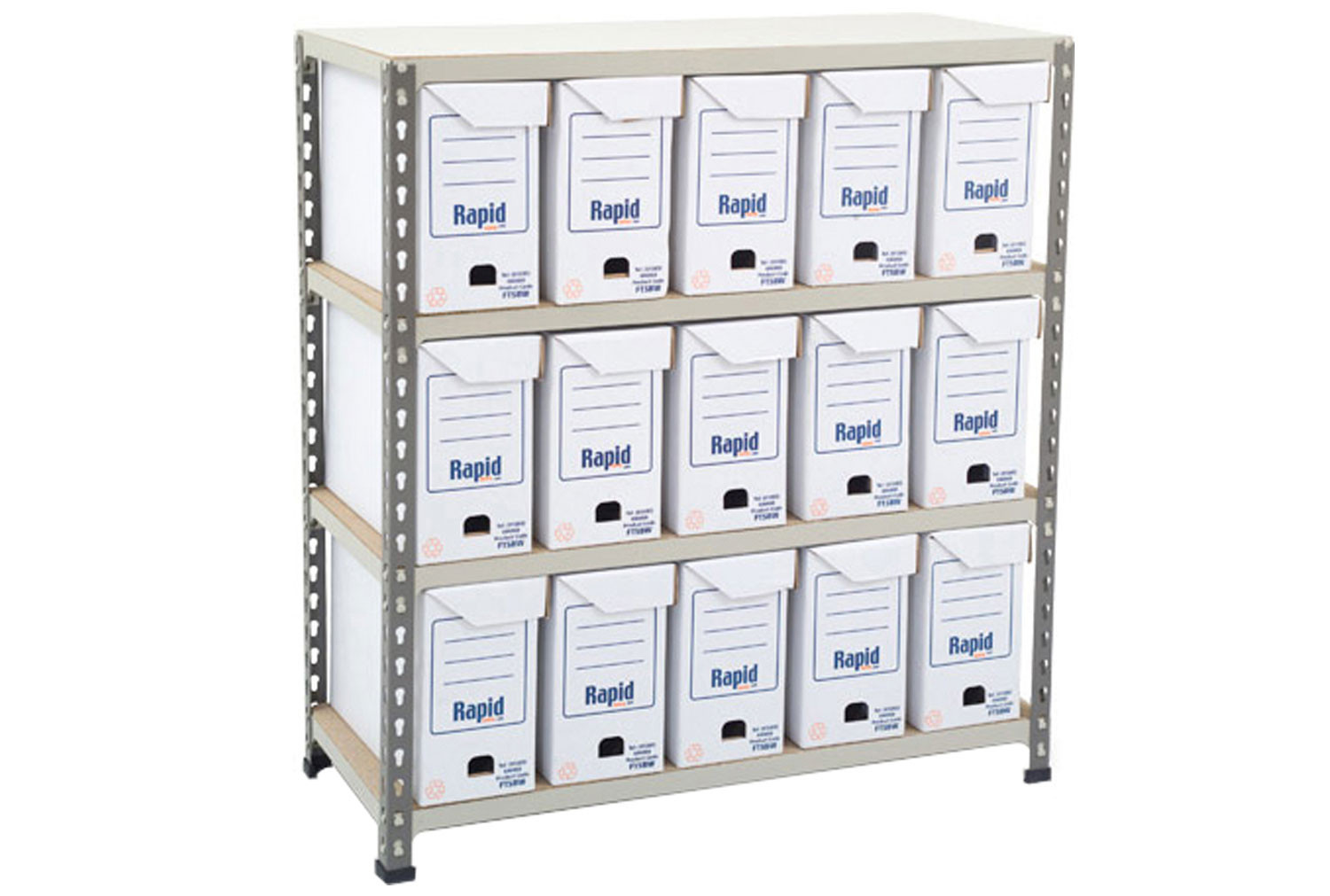 Rapid 2 Flip Top Document Storage Bay With 15 Boxes