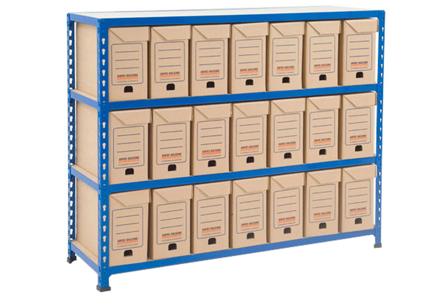 Rapid 2 Flip Top Document Storage Bay With 21 Boxes