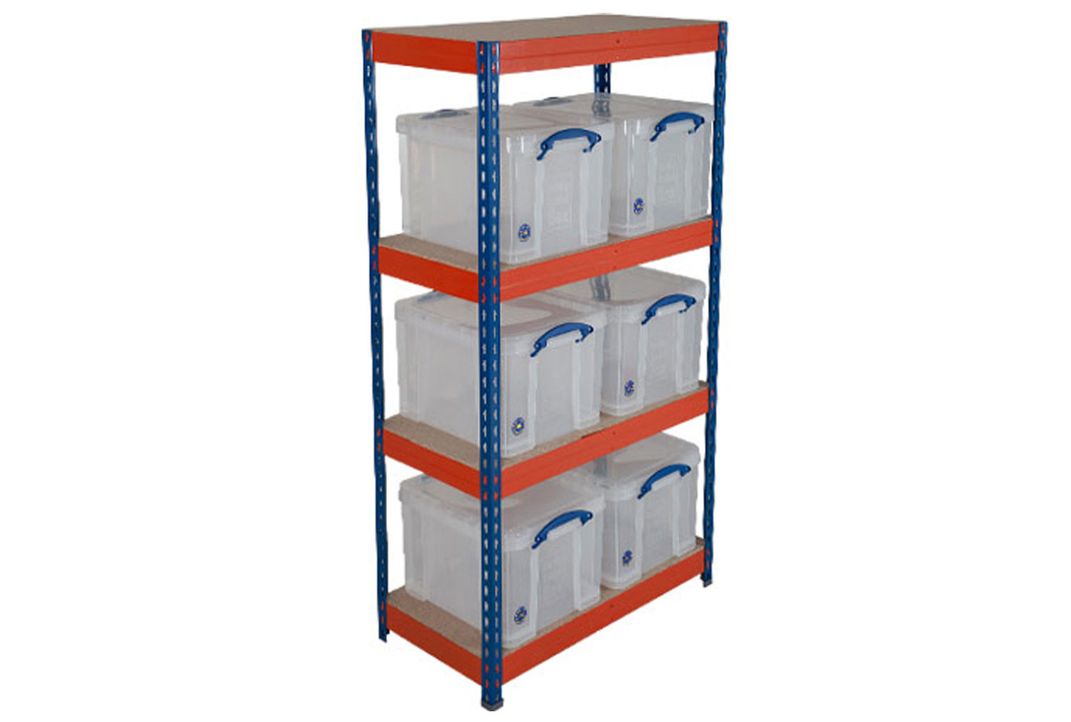 Really Useful Box Storage Unit With 6 X 35 Litre Clear Boxes