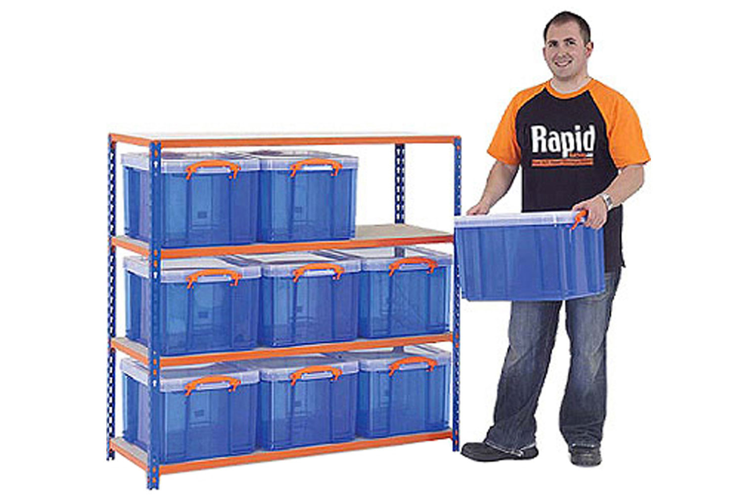 Rapid 2 Storage Bay With 9 X 35 Litre Really Useful Boxes