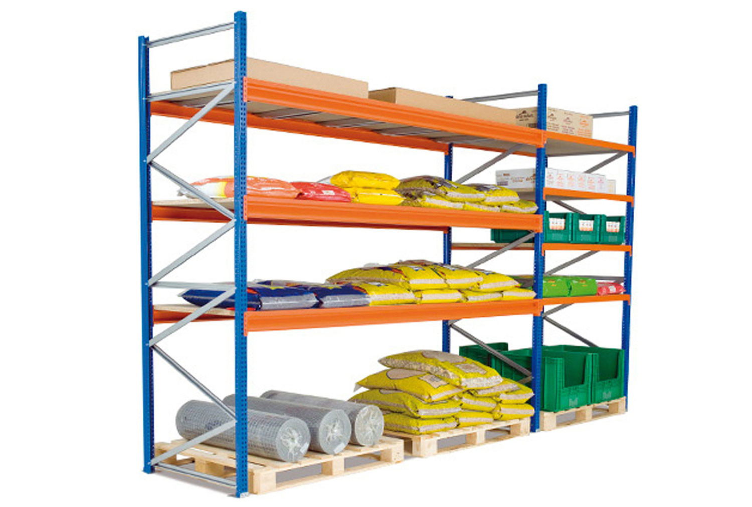 Heavy Duty Widespan Shelving With Chipboard Shelves 2675wx2000h
