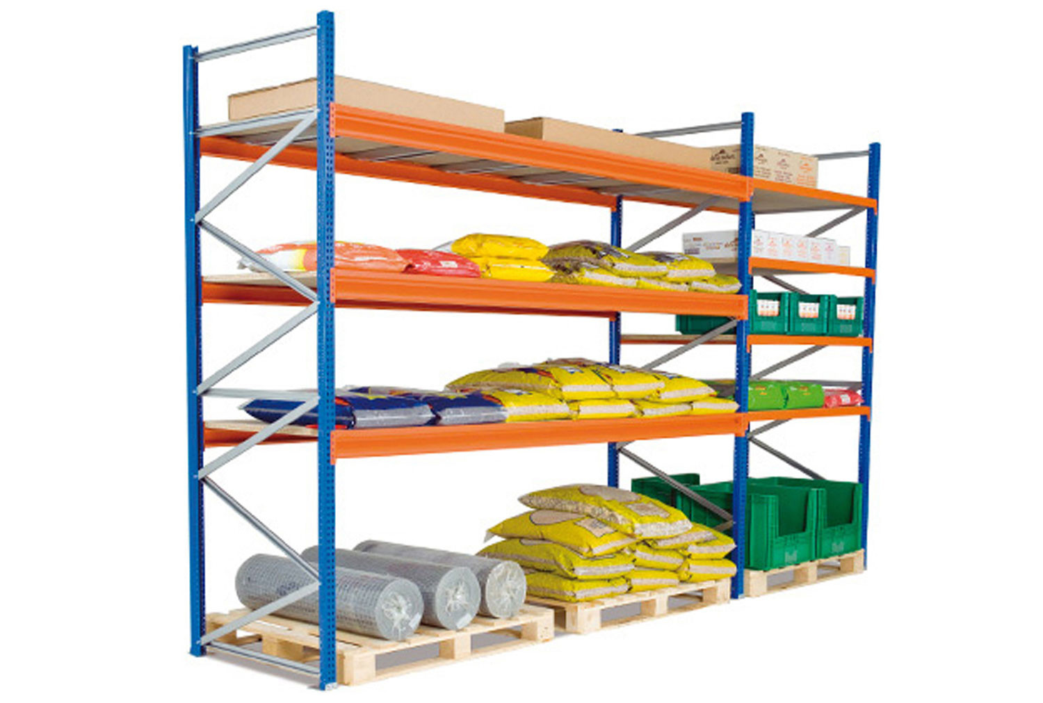 Heavy Duty Widespan Shelving With Galvanized Steel Shelves 2675wx2000h