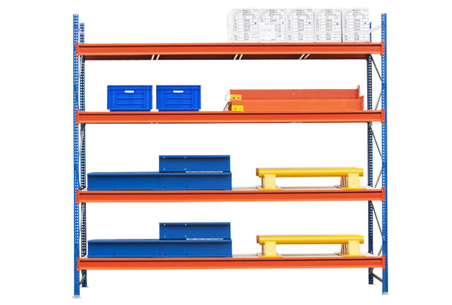 Heavy Duty Widespan Shelving With Chipboard Shelves 2140wx2500h