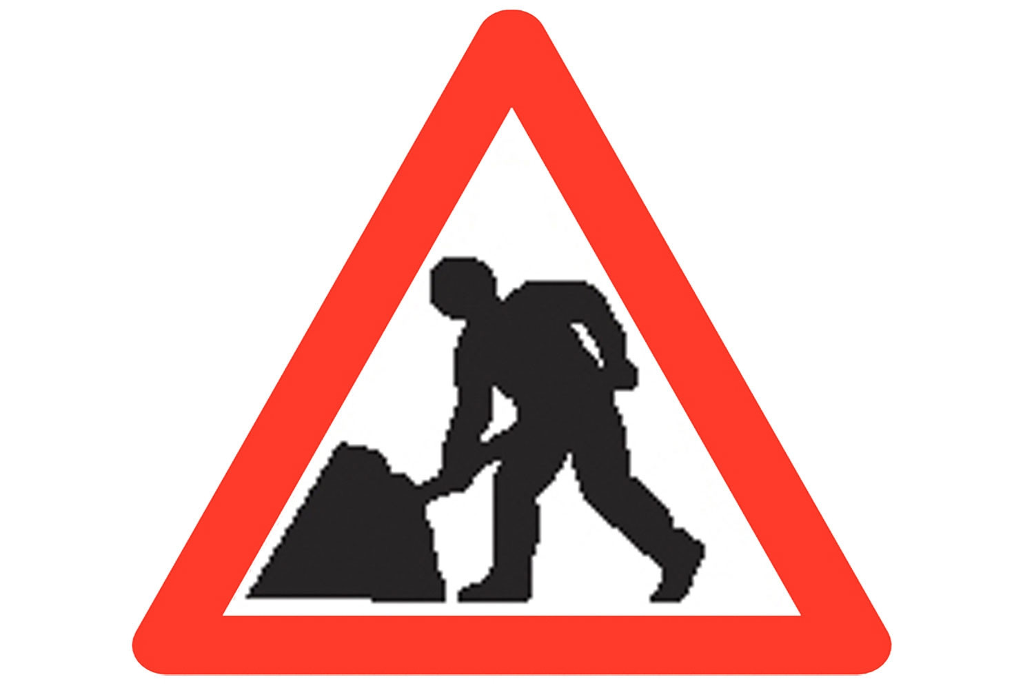 Men At Work Reflective Roll Up Traffic Sign