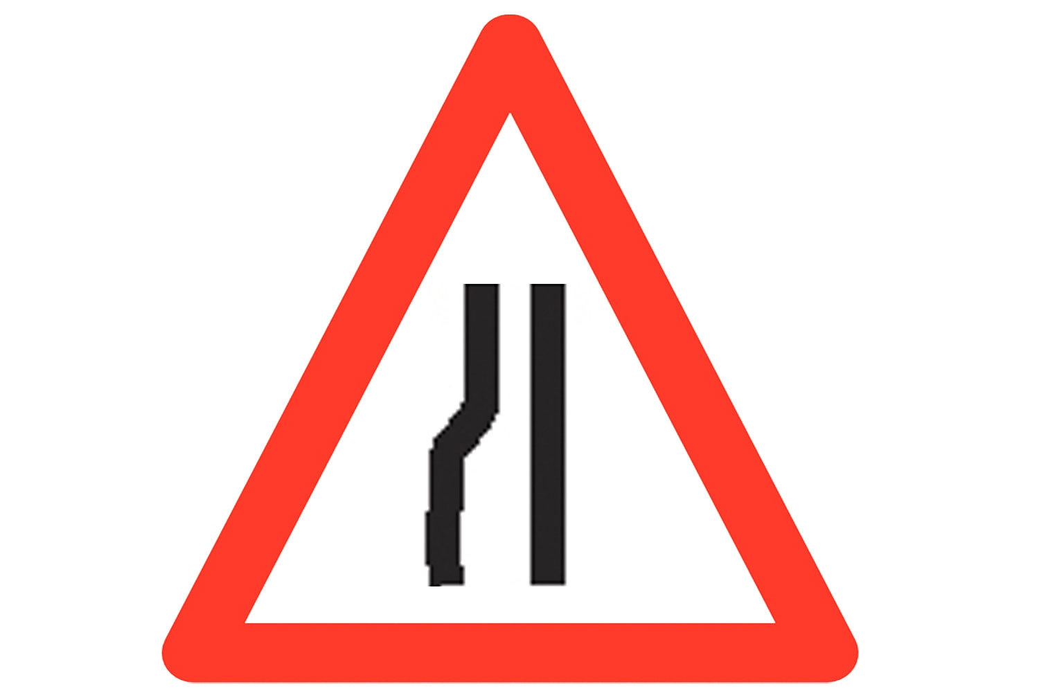 Road Narrows Reflective Roll Up Traffic Sign