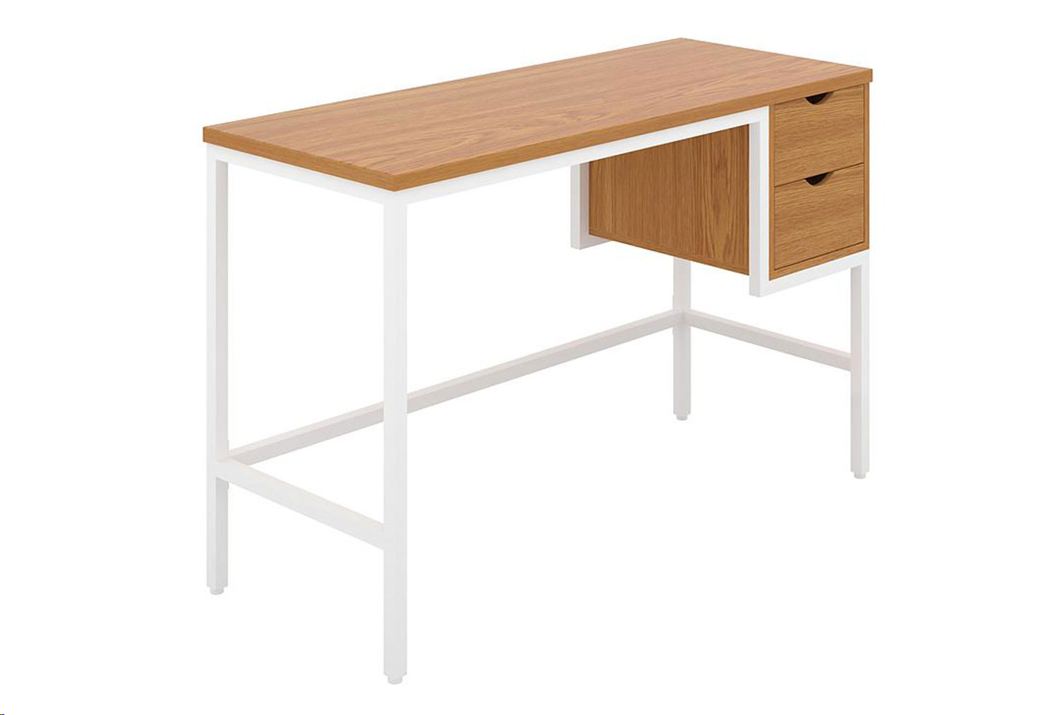 Shen Home Office Desk With 2 Drawers (White Frame)