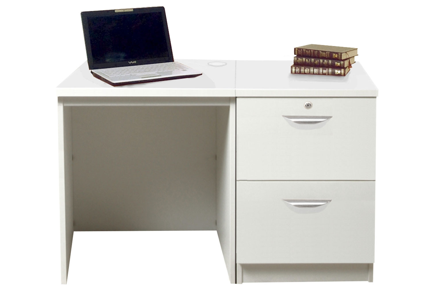 Small Office Desk Set With 2 Drawer Filing Cabinet White Furniture At Work