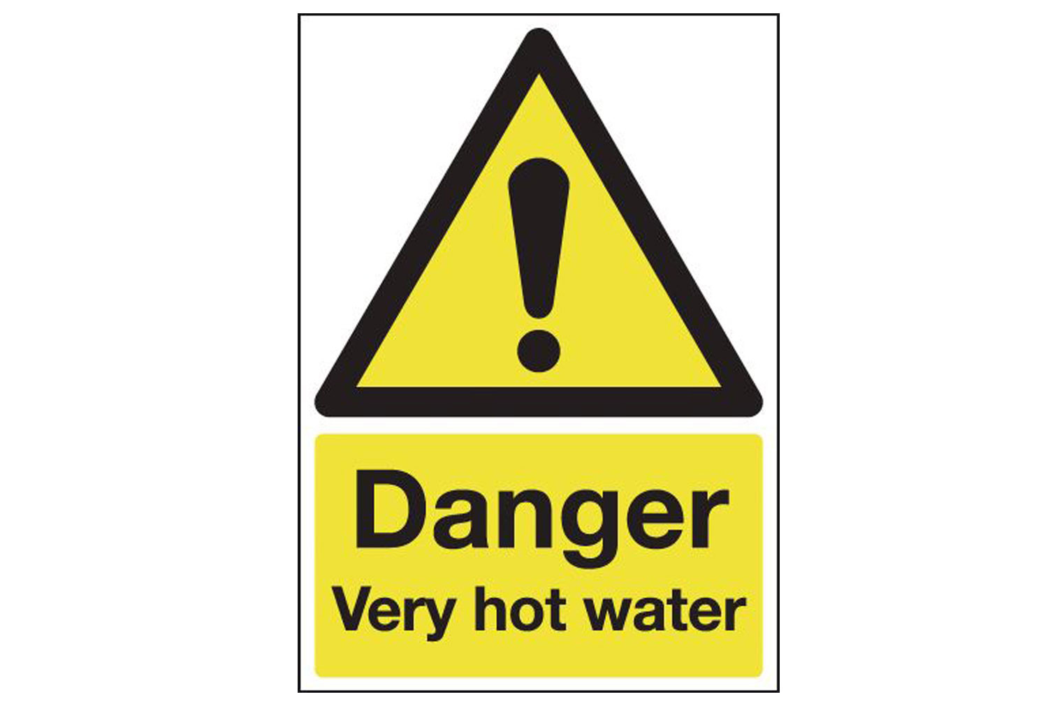 Danger Very Hot Water Safety Sign