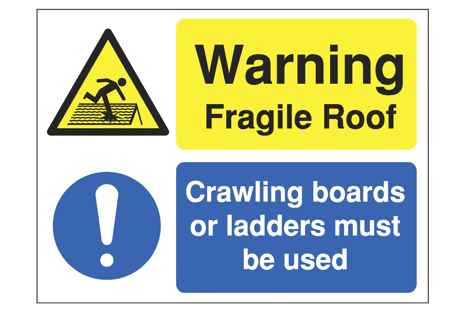 Warning Fragile Roof Site Safety Sign