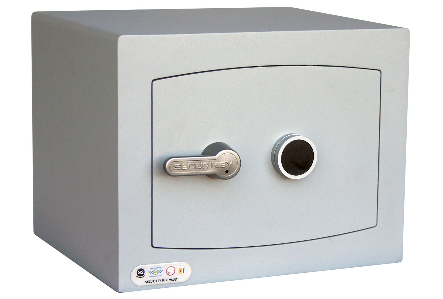 Securikey Mini Vault Silver Cash Safe Size 1 With Key Lock (26ltrs)