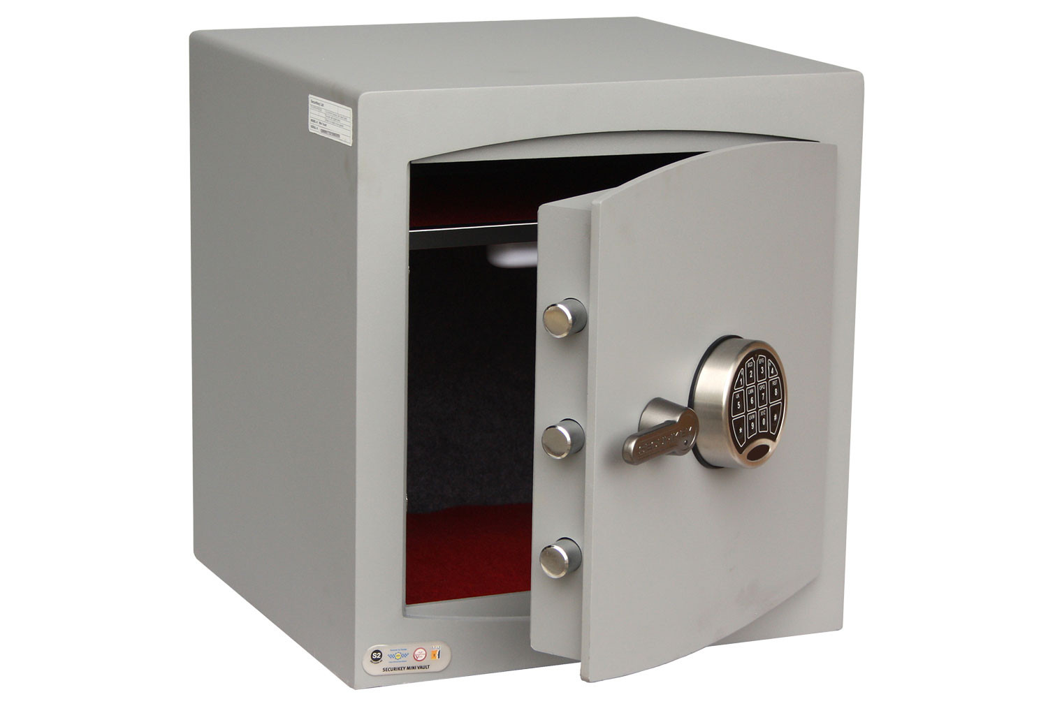 Securikey Mini Vault Silver Cash Safe Size 3 With Electronic Lock (68ltrs)