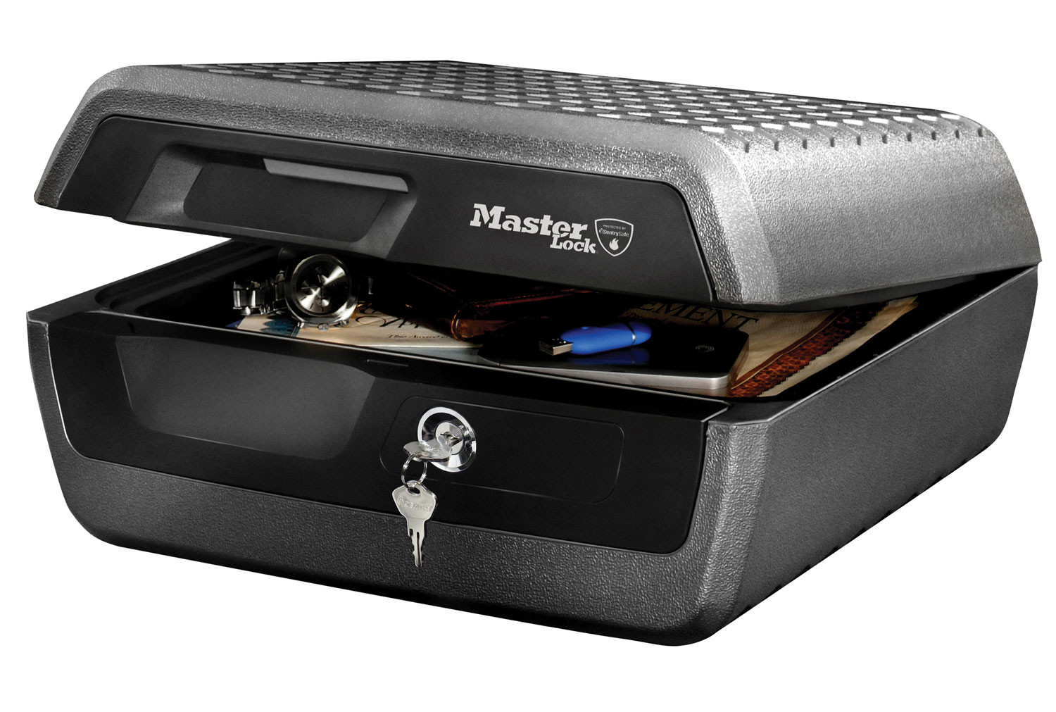 Master Lock LCFW30100 Large A4 Fire Chest With Key Lock (10ltrs)