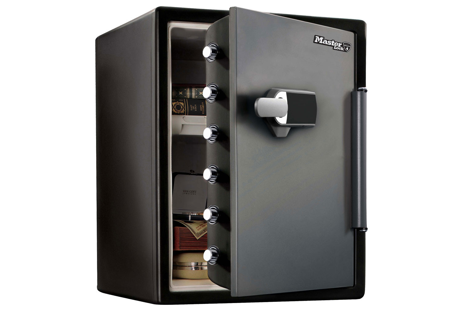 Master Lock LFW205TWC XX Large 1 Hour Fire Safe With Electronic Lock And Sensor Alarm (57ltrs)