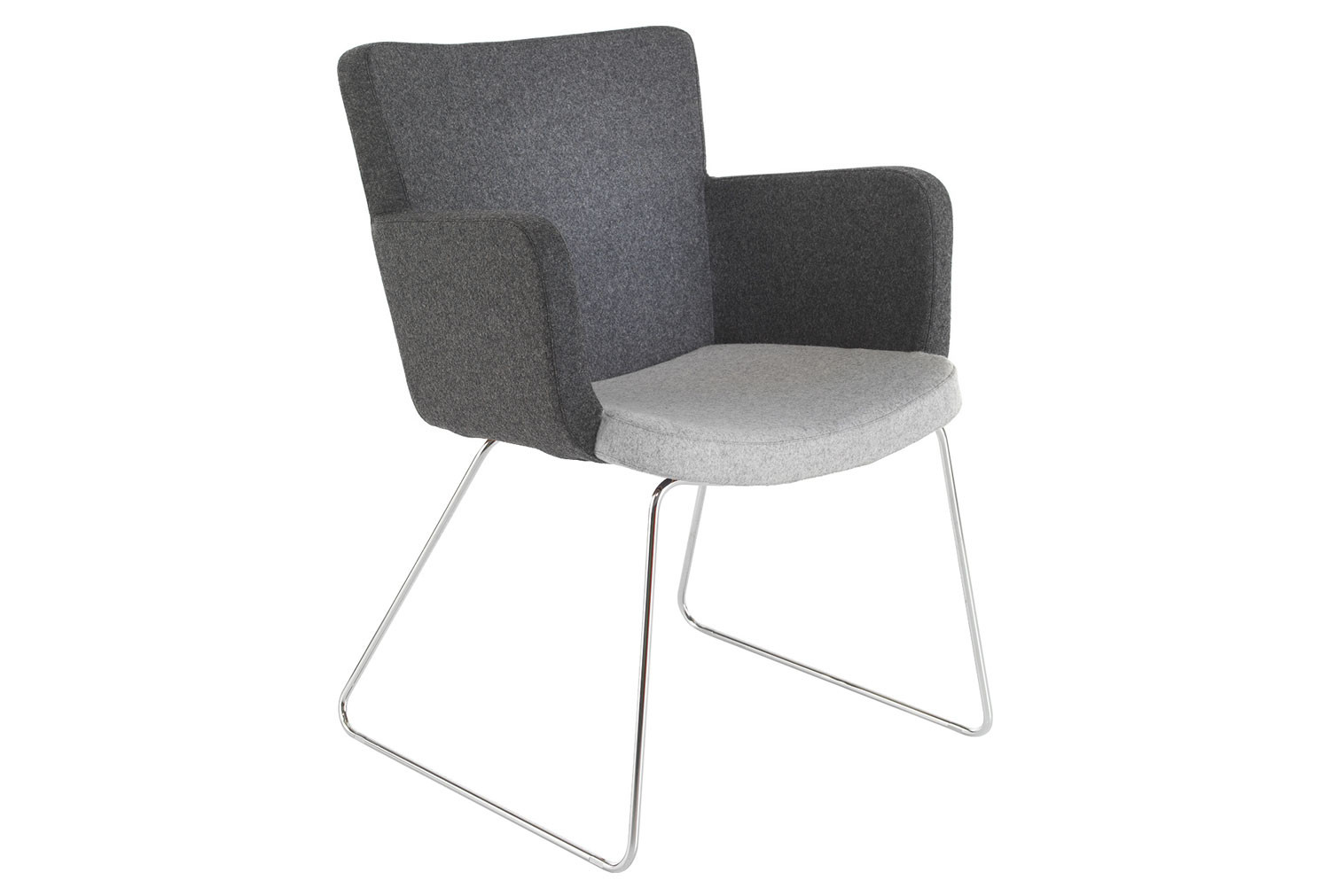 Garza Visitor Chair With Chrome Sled Frame