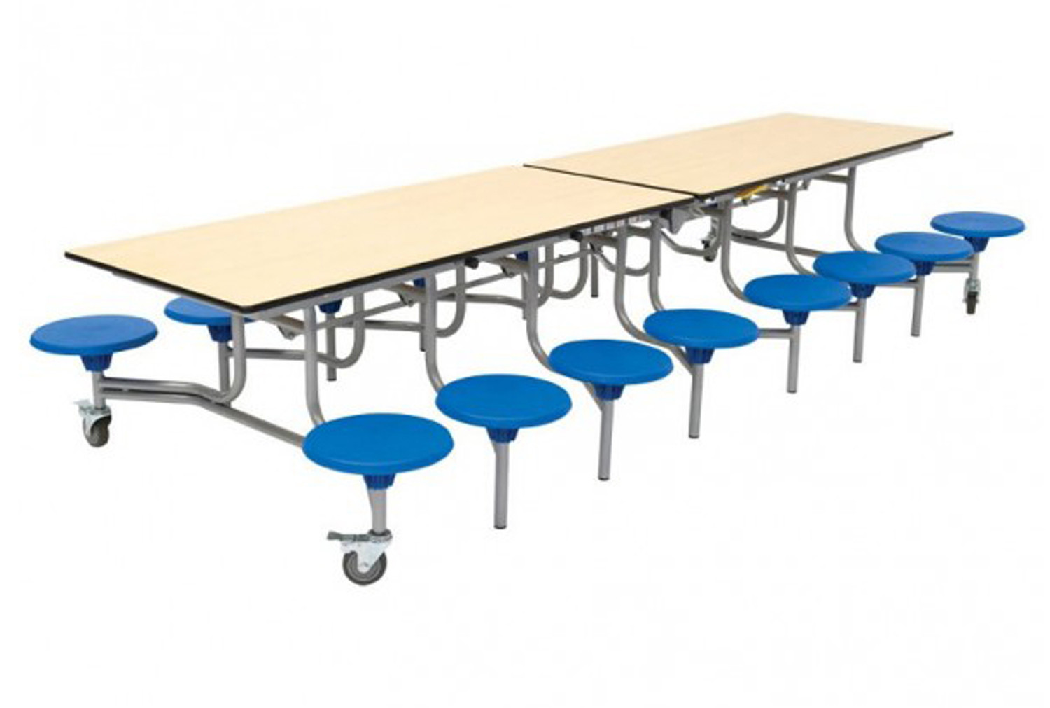 Rectangular Mobile Dining Unit With 16 Seats