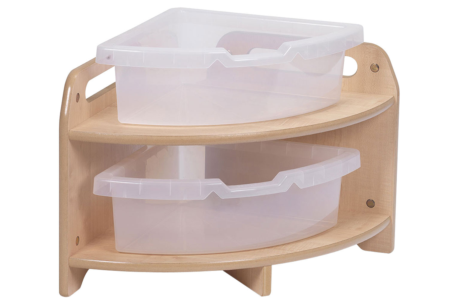 Playscapes Low Level 90 Degree Corner Unit With 2 Clear Tubs