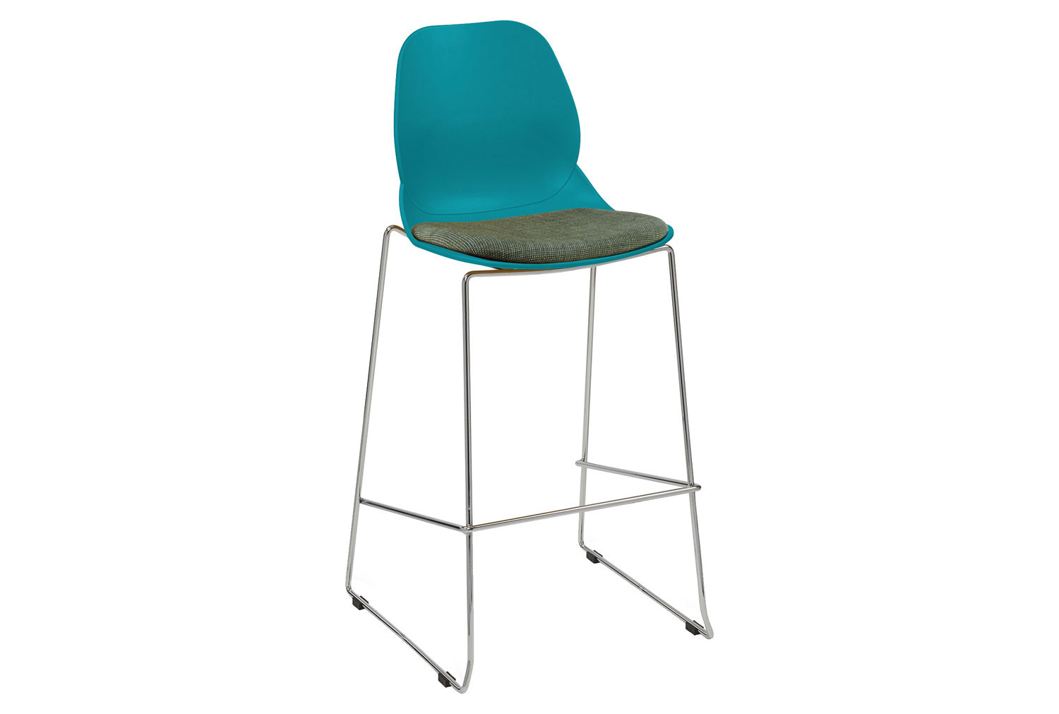 Lilly Sled Frame Bistro Stool With Upholstered Seat