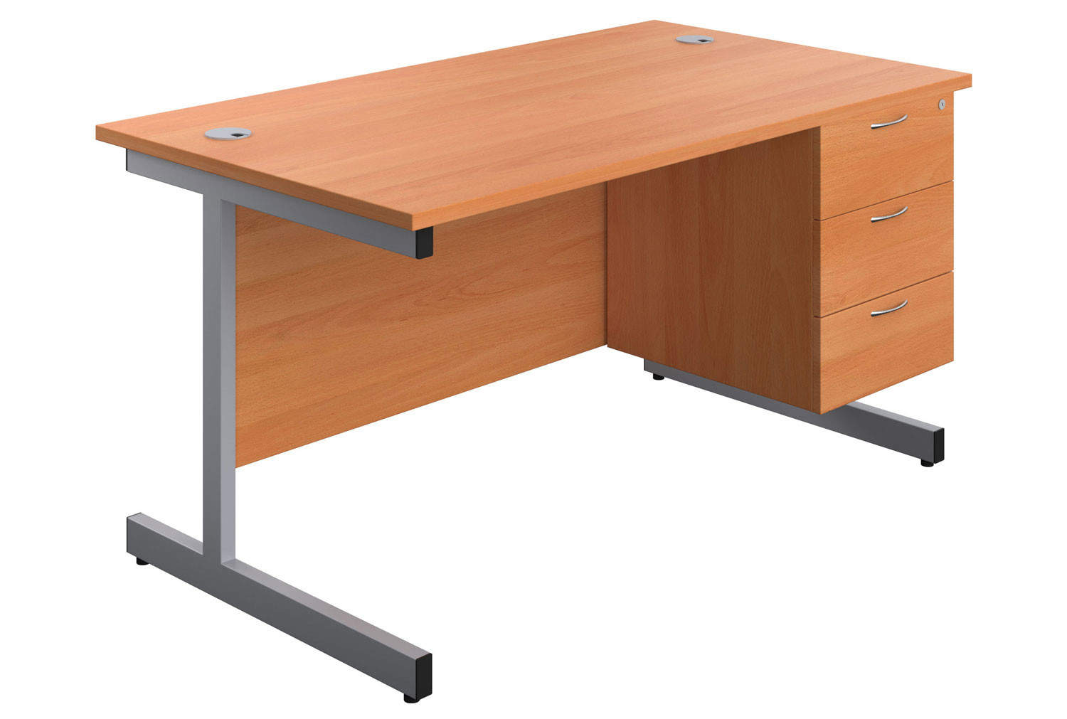 Proteus I Clerical Desk With 3 Drawers