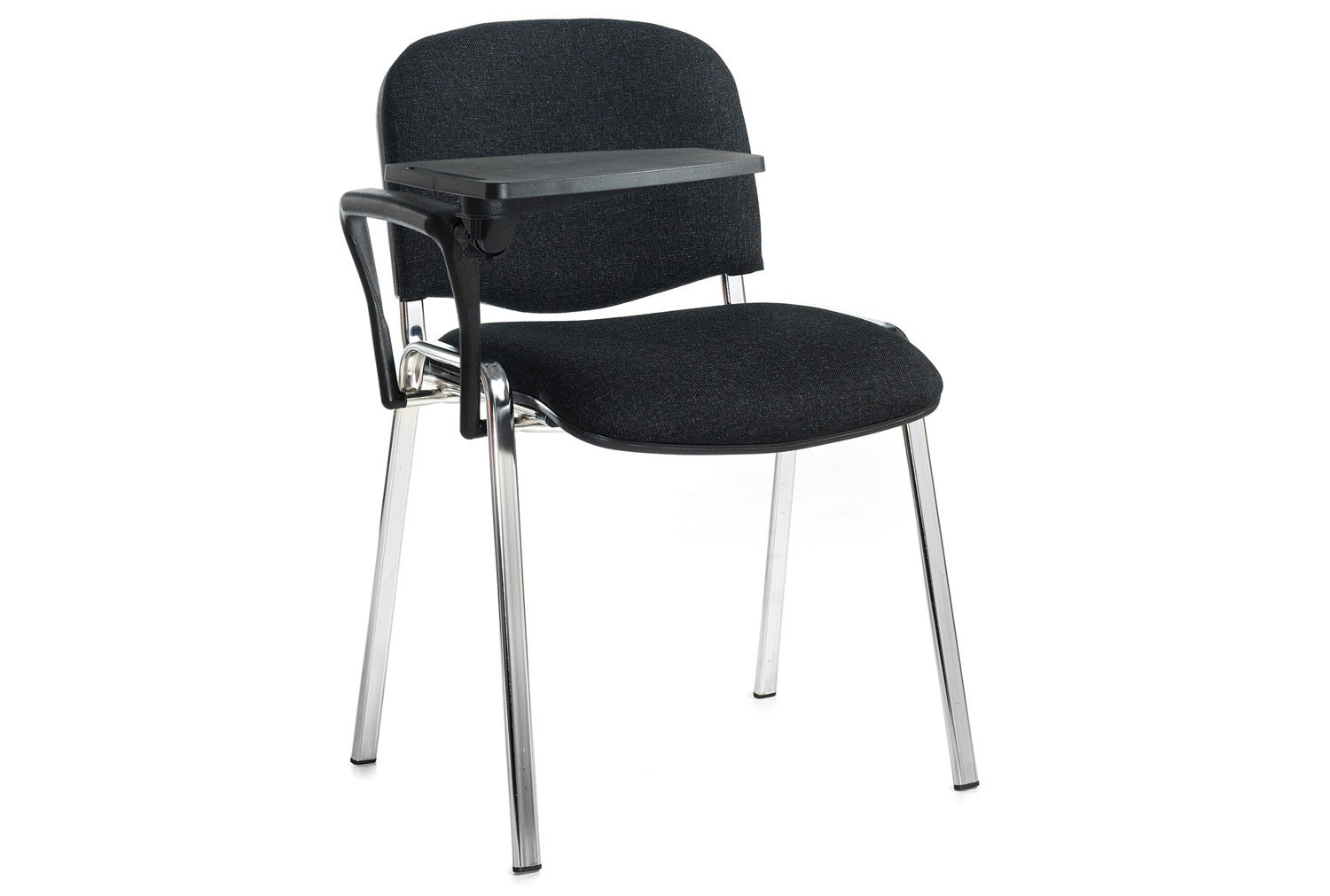 Pack Of 4 Chrome Frame Conference Chairs With Writing Tablets
