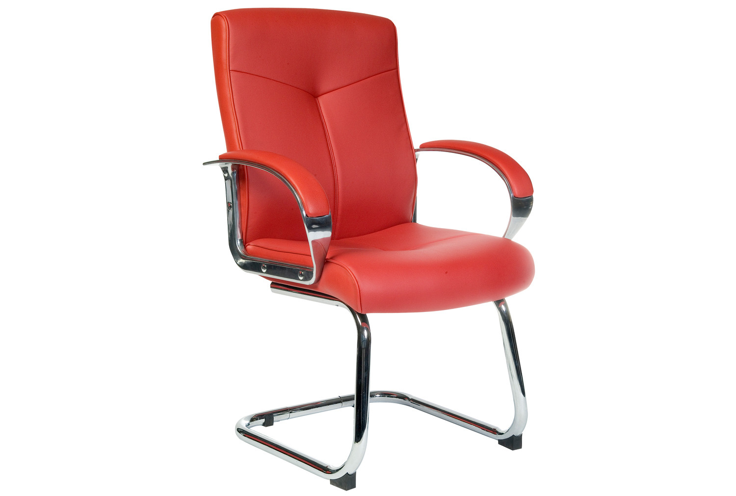 Hoxton Red Leather Visitors Reception Office Meeting Cantilever Office Chair