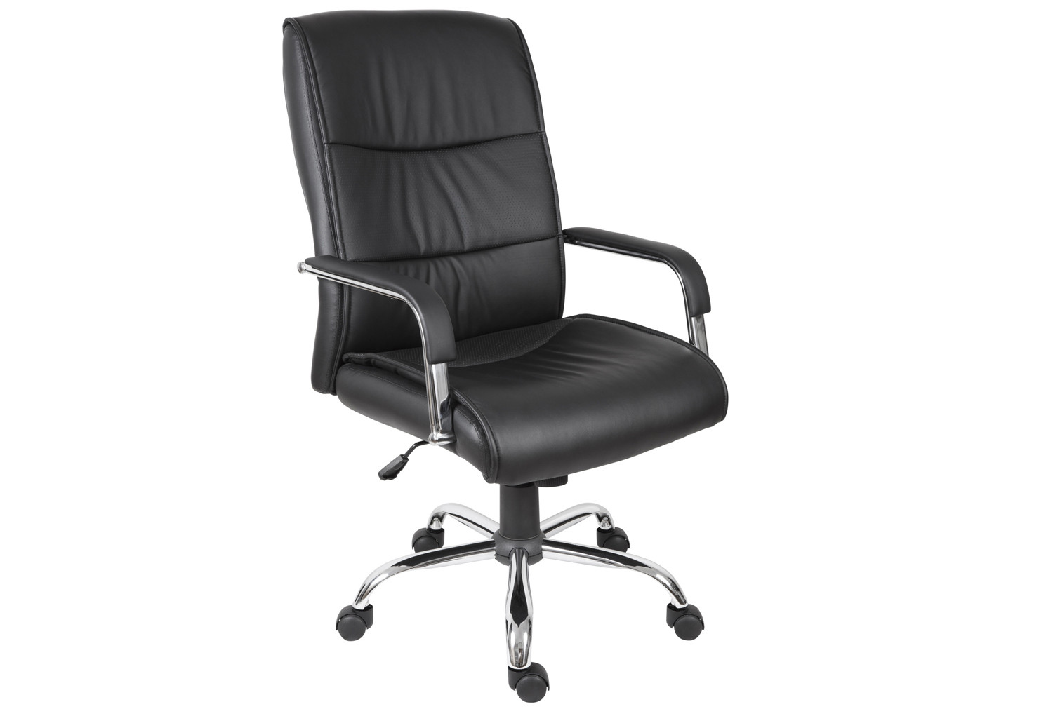 Next-Day Kirkby Executive Leather Faced Chair (Black)