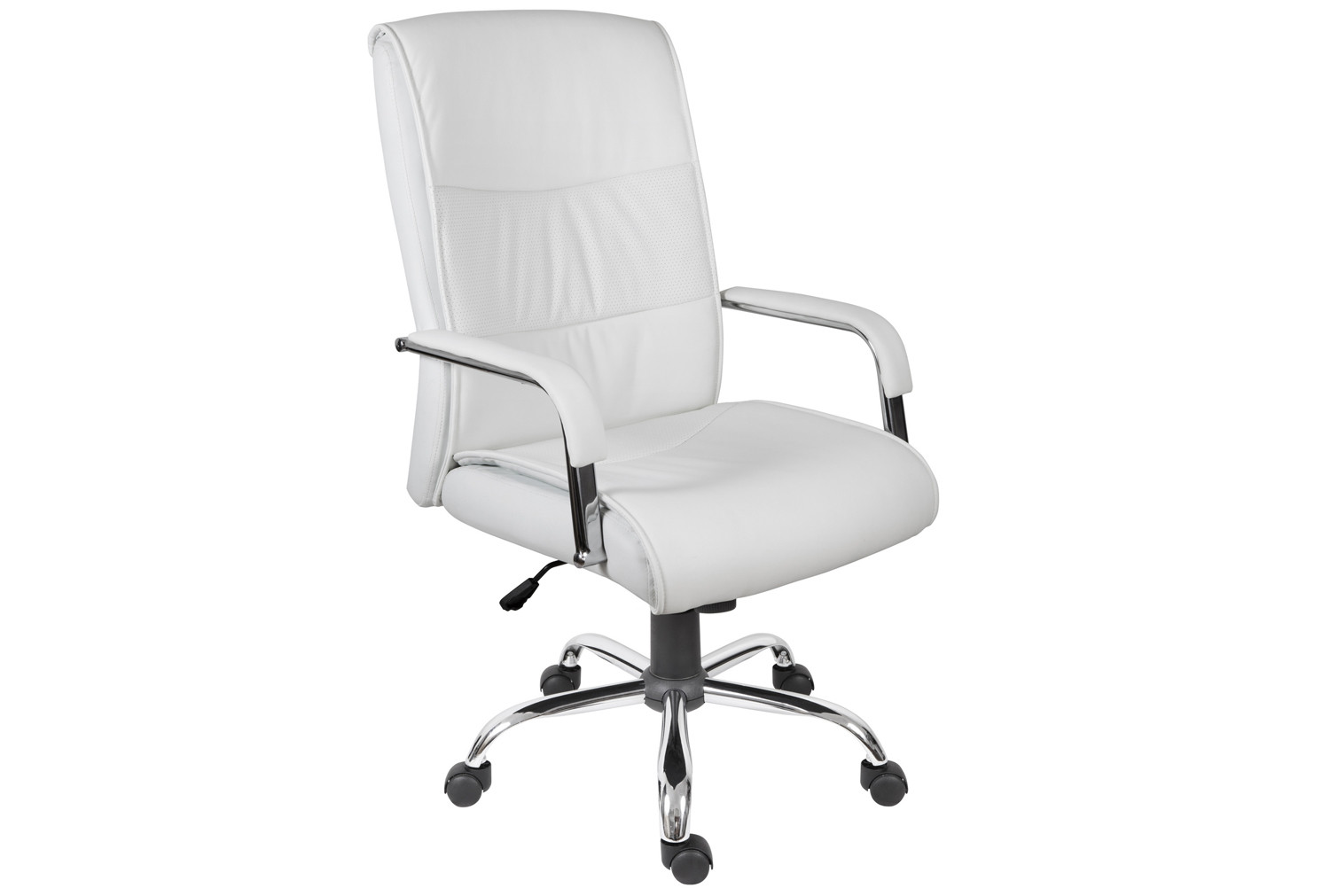 Kirkby Executive Leather Faced Chair (White)