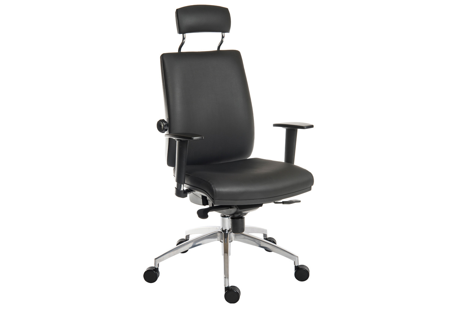 Baron deluxe 24hr ergonomic armchair with headrest (PU)