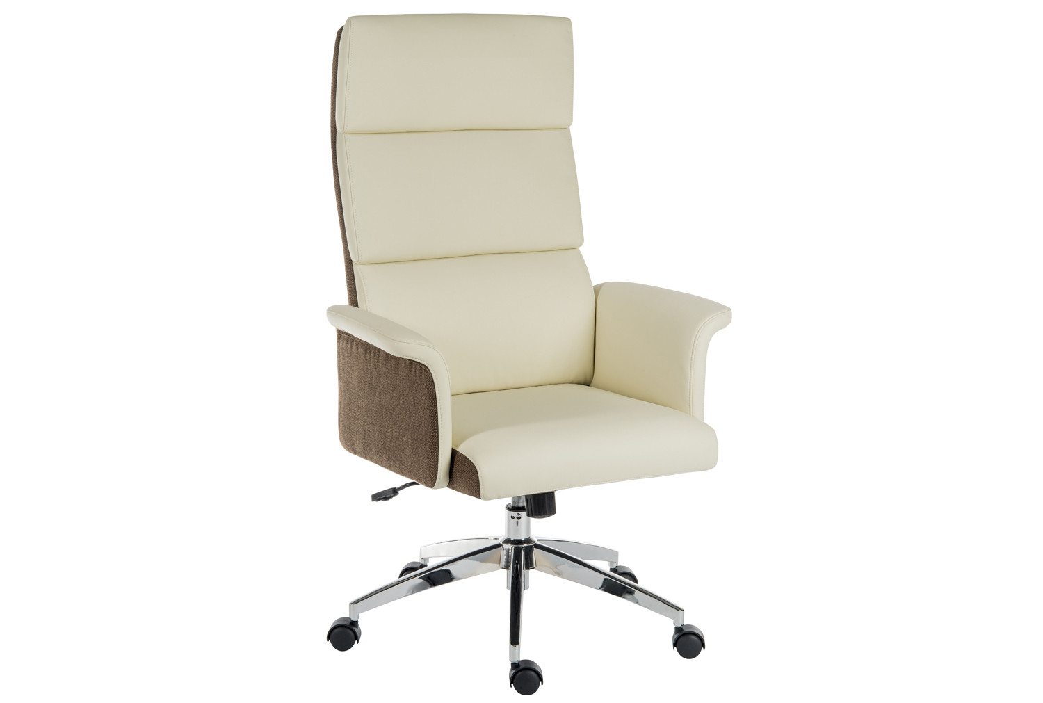 Panache High Back Executive Leather Look Chair Cream