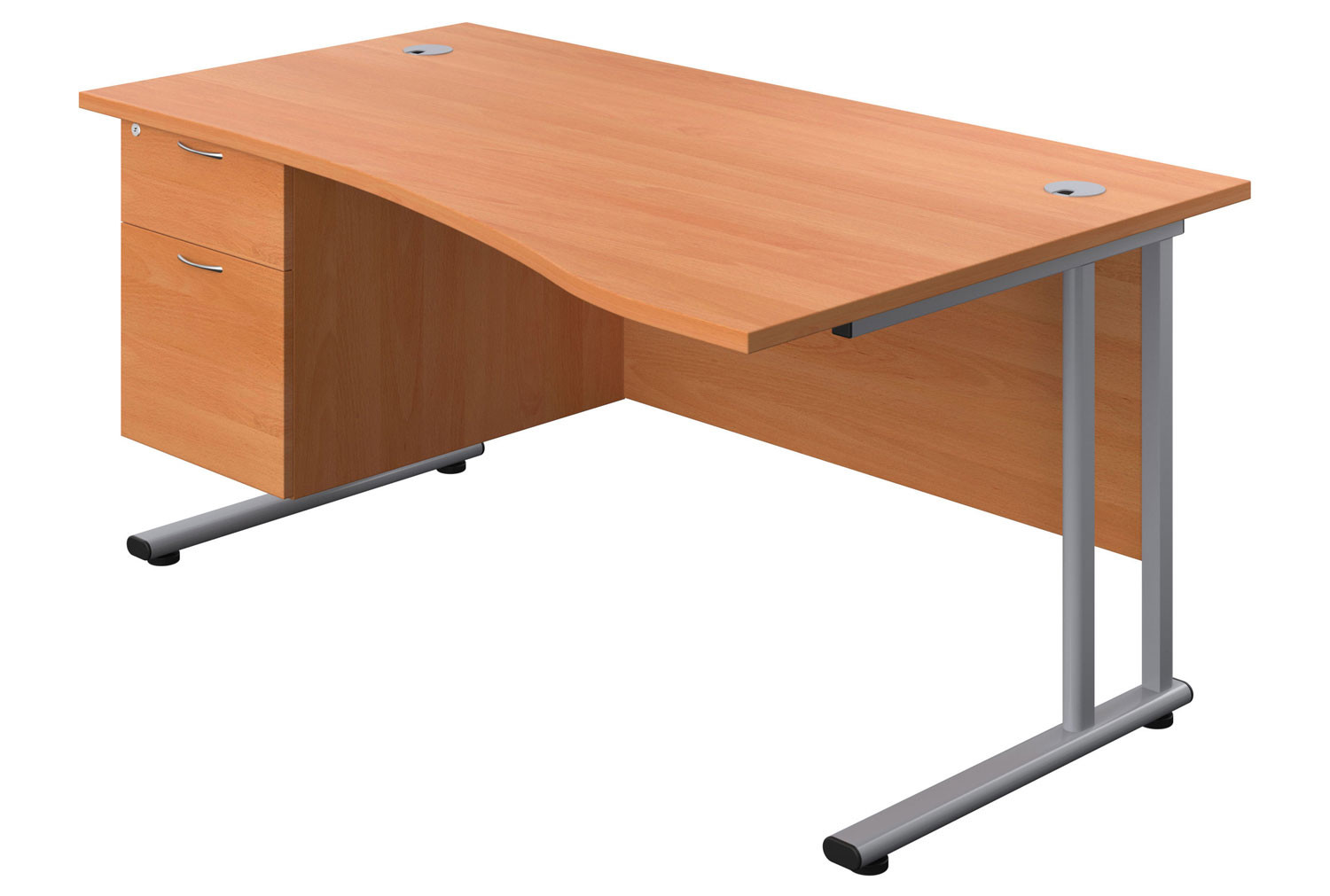 Proteus II Right Hand Wave Desk With 2 Drawers
