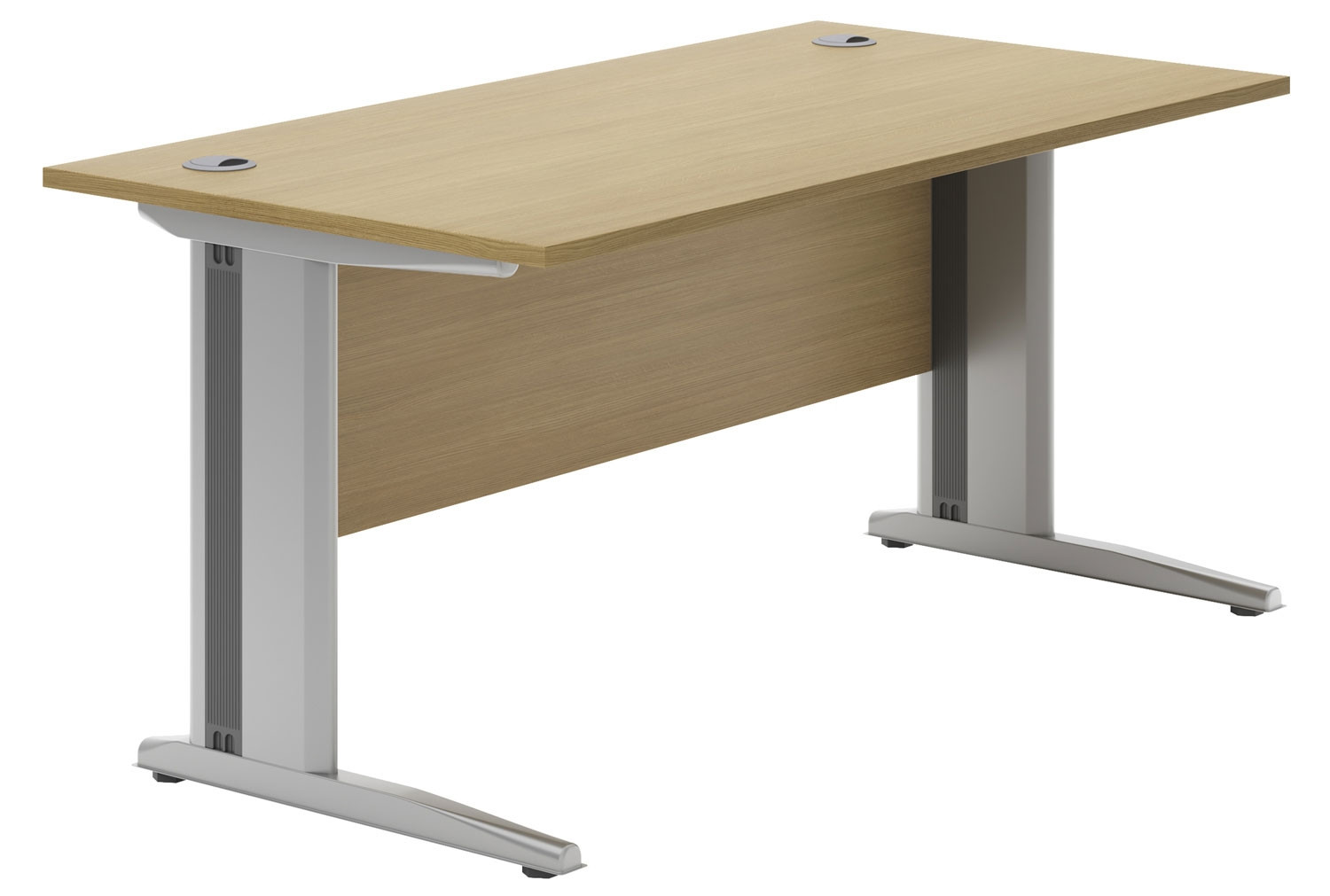 Astrada Deluxe C-Leg Rectangular Desk (Oak)