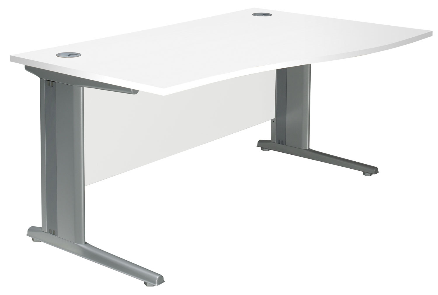 Solero Deluxe C-Leg Right Hand Wave Desk