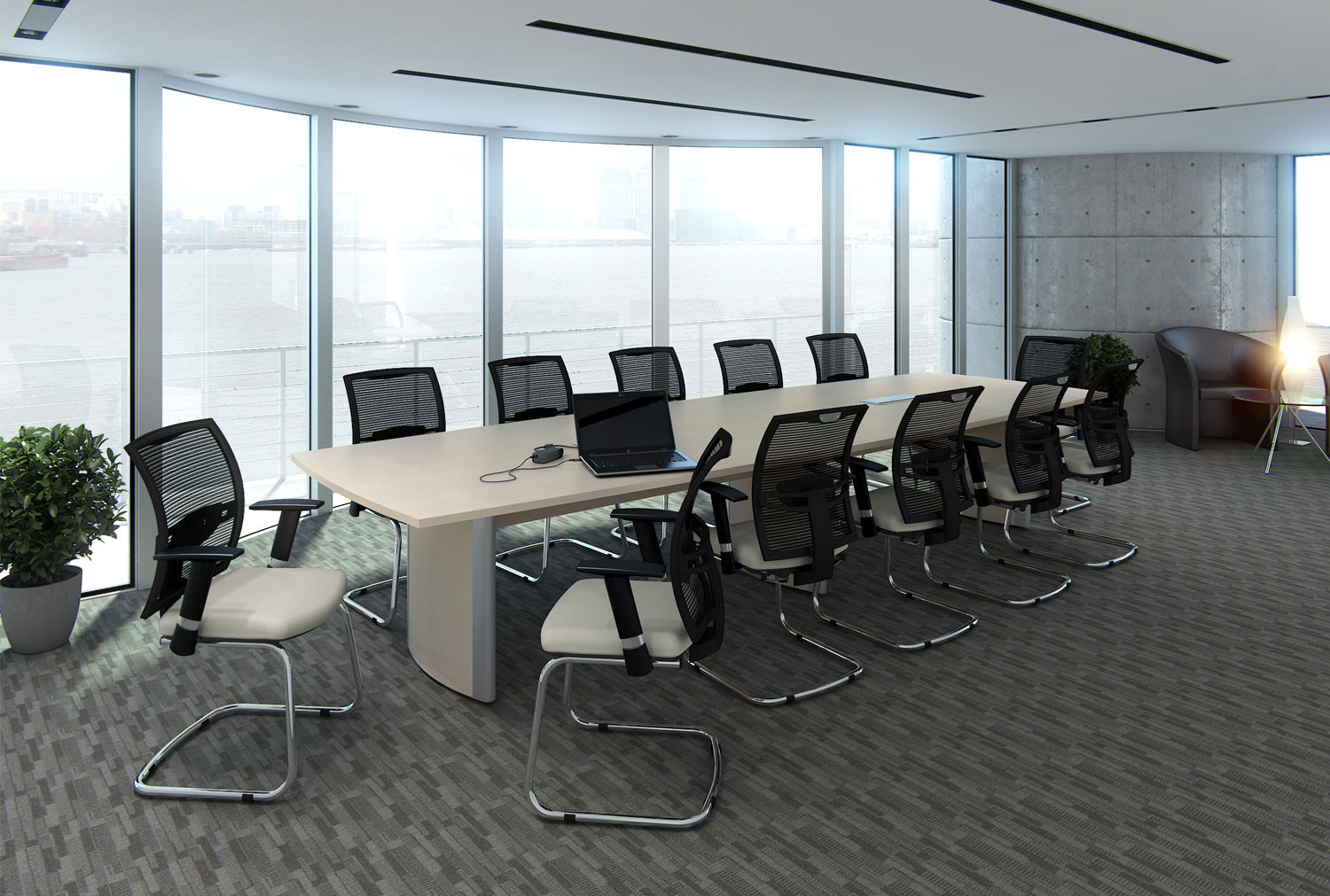 Profile 12 person boardroom table