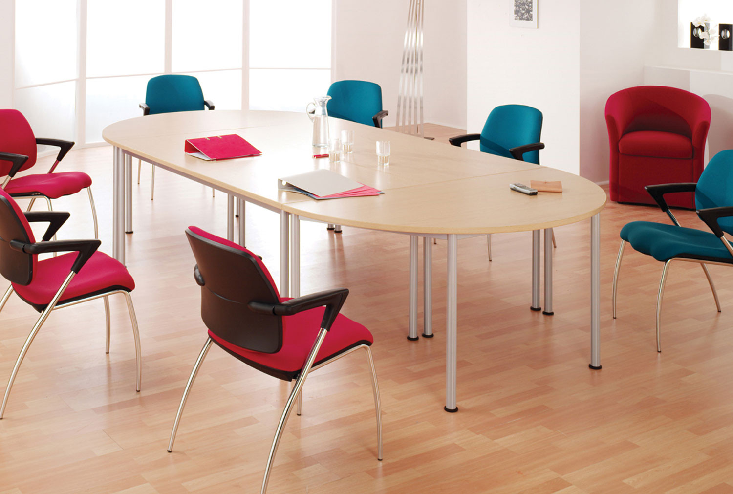 Santiago Modular Semi Circular Meeting Table
