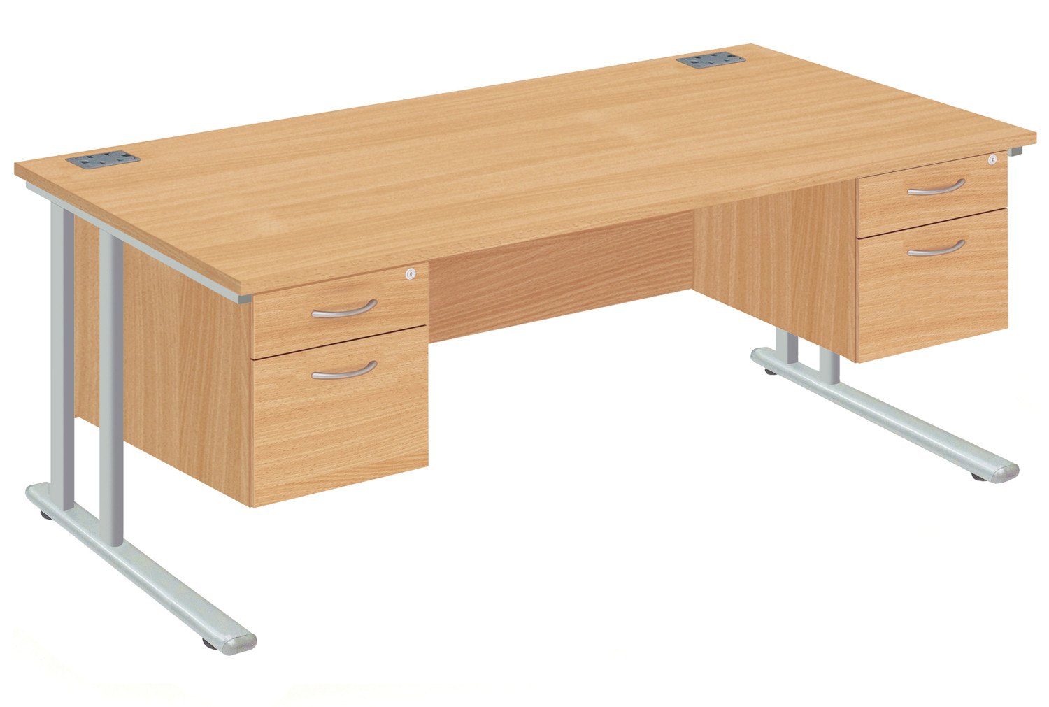 Proteus II Executive Desk 2+2 Drawers