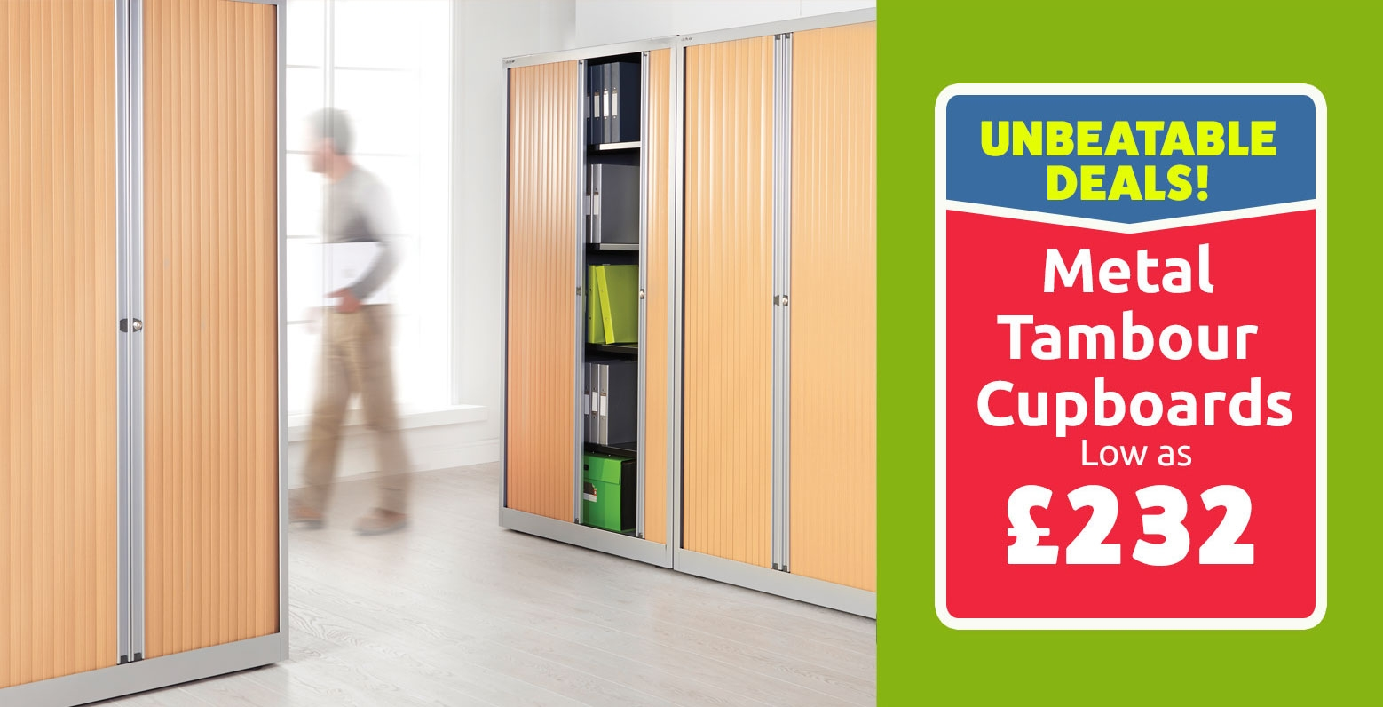 Metal Tambour Cupboards